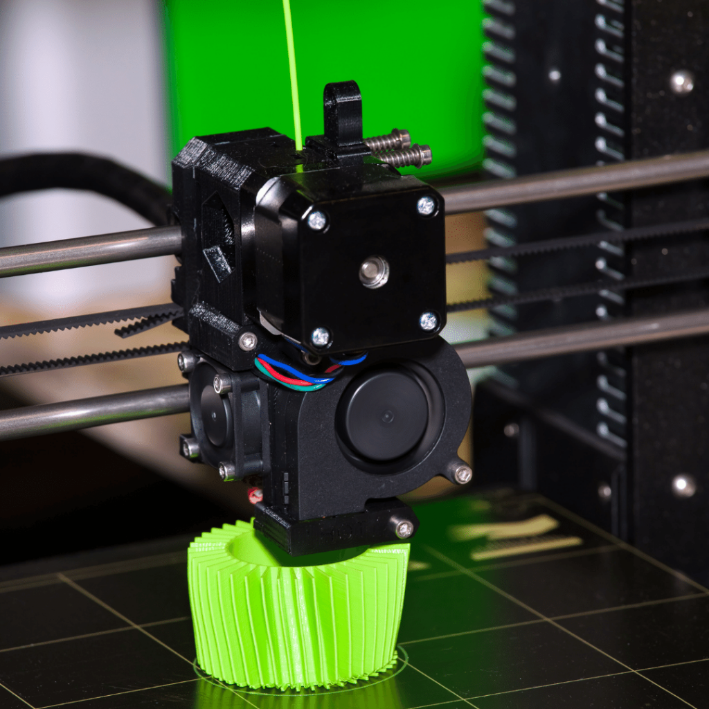Item being created with 3D Printing
